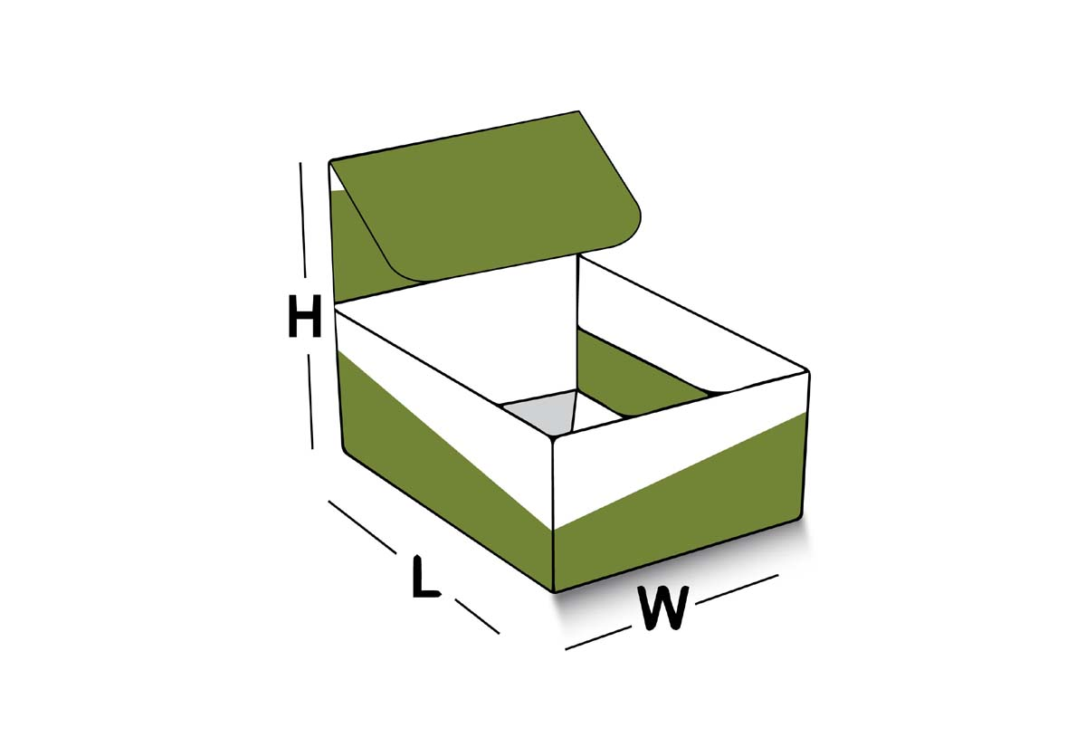 Four corner lid box