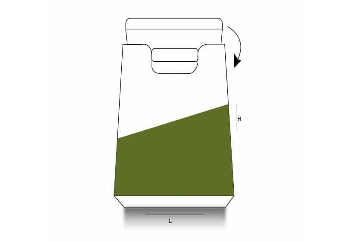 Handle Bag Shape Box